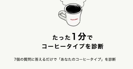 コーヒー診断の画像