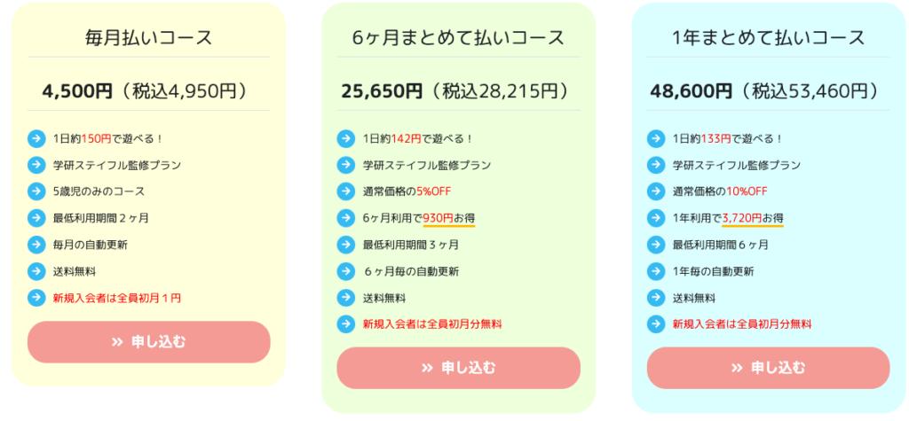 学研ステイフル料金コース